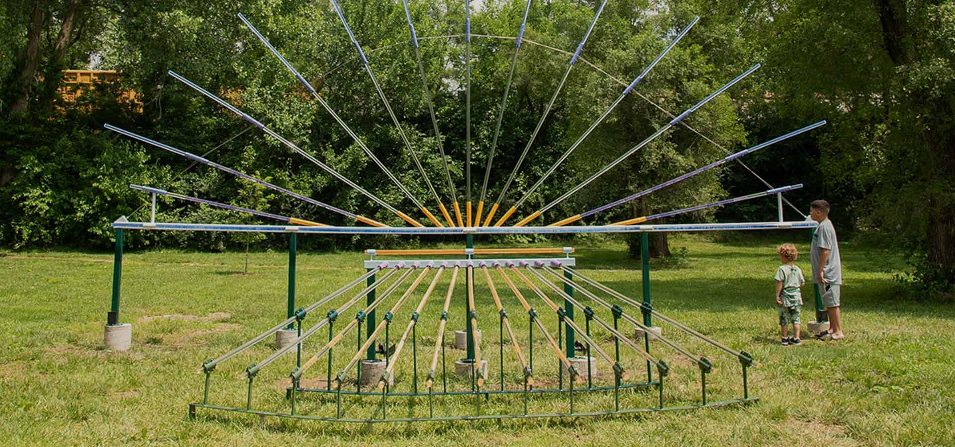 Experience Shelton Height's Park new art installation Bending Light!
